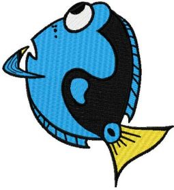 Thinking Dory embroidery design