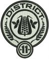 District 11 logo embroidery design