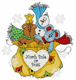 Presents from the North Pole 2 machine embroidery design
