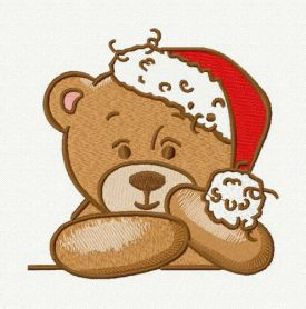 Waiting for Christmas 4 machine embroidery design