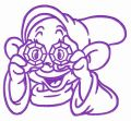 Happy Dopey embroidery design