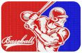 Baseball player 10 embroidery design