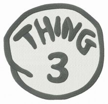 Thing 3 round badge