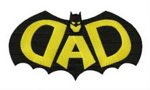DAD Batman silhouette