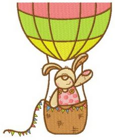 Bunny the balloonist machine embroidery design