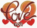 Love you 7 embroidery design