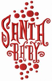 Santa baby machine embroidery design