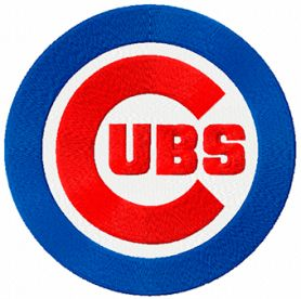 Chicago Cubs logo machine embroidery design