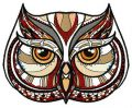 Mosaic owl 2 embroidery design