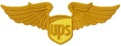UPS Wings logo embroidery design