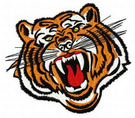 Bengal tiger 4 machine embroidery design