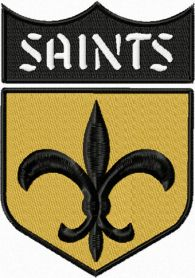 New Orleans Saints logo machine embroidery design