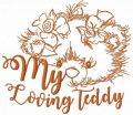 My loving Teddy free machine embroidery design