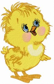 Curious chicken 3 machine embroidery design