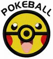Pikachu pokeball embroidery design