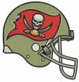 Tampa Bay Buccaneers 2014 helmet embroidery design
