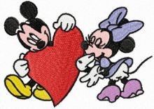 Mickey and Minnie Mouse Valentine's Day