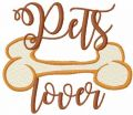 Pets lover free machine embroidery design