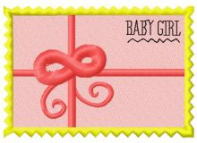 Postage stamp Baby girl 2