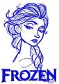 Elsa sketch 11 embroidery design