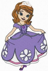 Sofia the first machine embroidery design