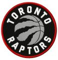 Toronto Raptors logo embroidery design