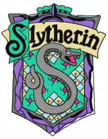 Slytherin emblem machine embroidery design