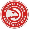 Atlanta Hawks basketball club logo embroidery design