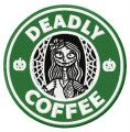 Deadly coffee embroidery design