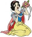 Snow White with flower embroidery design