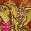 Embroidered bag with Indian Elephant design