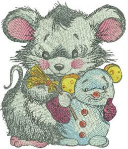 Mouse with snowmouse
